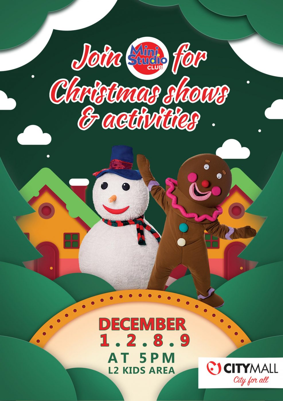 CHRISTMAS SHOWS AND ACTIVITIES WITH MINI STUDIO